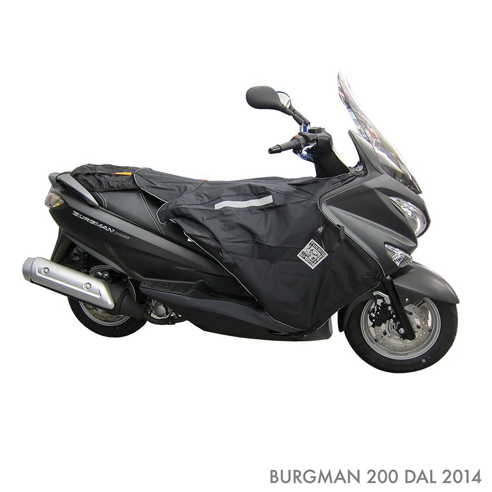 Compatible avec Suzuki Burgman UH 125 2006 06 Tablier Etanche OJ JFL-TF Couverture Thermique pour Scooter avec Doublure DOUBL/ÉE ET Cheveux SYNTH/ÉTIQUES Pro Leg Noir